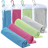 XJSGS Cooling Towel Microfiber Towel Fast Drying Super Absorbent Ultra Compact Cooling Towel for Sports Workout Fitness…