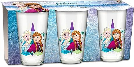 empireposter Glas-Set - Frozen - Anna und ELSA - 237 ml - 3 Gläser Trinkglas Kinder Geschirr