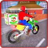 Moto Pizza Delivery Bike: Deliver Pizza in City