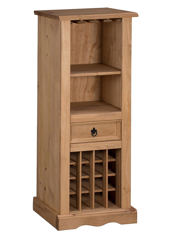Mexican Pine Living Room Furniture Mercers Furniture Corona Wine Rack Pine Amazoncouk Kitchen