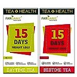 Farganic 15 Days Weight loss green tea. 100% Natural and Herbal. Day Time tea, Bed Time Tea. Slimming tea. 30 Tea Bags...