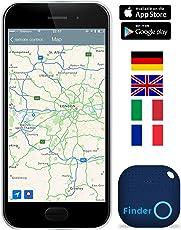 musegear® Schlüsselfinder mit Bluetooth App I Version 2 I Keyfinder laut für Handy in dunkelblau I GPS Ortung/Kopplung I Schlüssel Finden