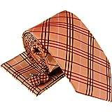 Cravatta da uomo in tessuto scozzese con motivo tartan e quadri, set regalo