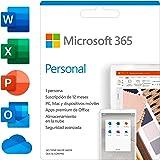 Microsoft 365 Personal | Suscripción anual o mensual | Para 1 PC o Mac, 1 tableta incluyendo iPad, Android, o Windows, además