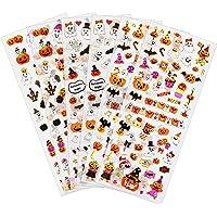 Naler Autocollants Halloween, 6 pcs Sticker Mignon Fantôme Chauve-Souris Citrouille DIY Décoratif pour Enfant, Gommettes…