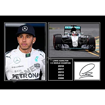 Lewis Hamilton 103 Racing Driver Poster Sport Formula One Motivation Quote Print