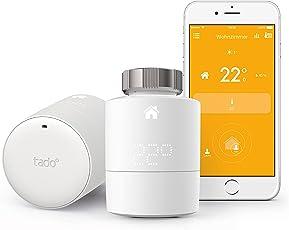 tado Smartes Heizkörper-Thermostat Starter Kit V3 für Wohnungen mit Heizkörper-Thermostaten-intelligente Heizungssteuerung per Smartphone