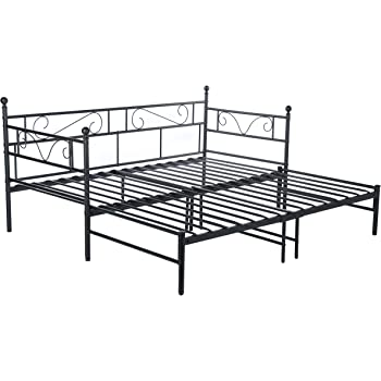 Eggree Single Double Day Bed Scrub Metal Guest Bed Frame Sofa Bed