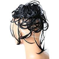 Prettyshop Hairpiece, accessorio per acconciature sposa, toupet per acconciature raccolte, voluminoso, chignon riccio e…