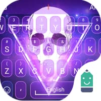 Flaming Skull Theme&Emoji Keyboard