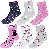 TupTam Calcetines Estampados de Colores para Niños, 6 Pares