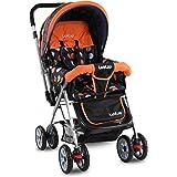 LuvLap Sunshine Stroller/Pram, Easy Fold, for Newborn Baby/Kids, 0-3 Years (Orange)