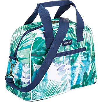 """kitchencraft""""we love summer tropical leaves holdall-style cool bag, tessuto, multi-colour, 32 x 16 x 25 cm"""