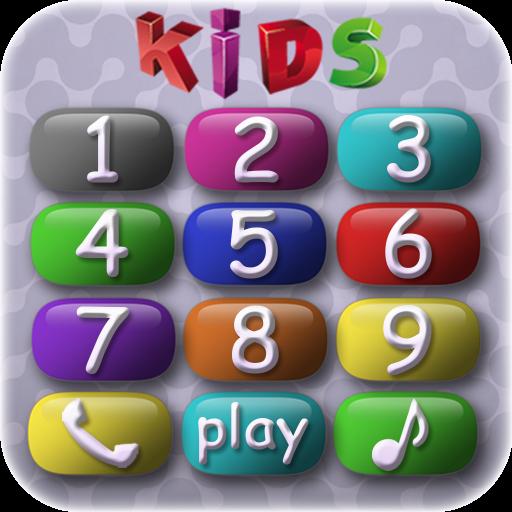 Teléfono del bebé - lindo juego con los números y los animales para la educación descubrimiento