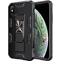 jaligel Cover per iPhone XS Max, Custodia con Cavalletto(Lavoro con Supporto Magnetico per Auto) Silicone Slim Cover 360…