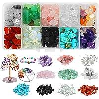 200g Perline di Pietre Preziose,Perline Kit creazione Gioielli Fai,Scatola Perline di Pietra,Naturale per bigiotteria…