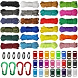 aufodara Paracord koorden, 7 strengen, nylon touw, 24 kleuren, paracord-armbandset voor doe-het-zelf armbanden, sleutelhanger