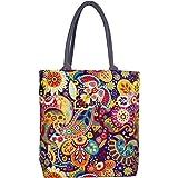 Sangra Canvas Tote Bag for Women (Multi-Color)