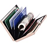 RFID Slim Metal Credit Card Holder Wallet for Ladies and Men,Credit Card Caes for Against Electronic Pickpockets & Identity T
