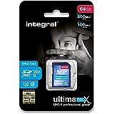 Integral Memory Tarjeta SD UHS-II de 64GB V60 de hasta 260 MB de Velocidad de Lectura y 100 MB de Velocidad de Escritura SDXC