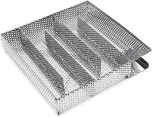 Wiltec BBQ Kaltraucherzeuger V2A Edelstahl Kaltrauchgenerator Kalträuchern Smoker 20,5x20,5cm