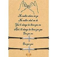 2-Piece Pinky Promise Bracelets Friendship Couple Distance Matching Graduation Bracelet Bohemia