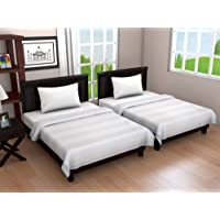 """Linenwalas 2-Toned Shaded Poly Cotton Single Size Summer Cool Dohar Set/AC Comforter/Blanket - Combo Set of 2-60""""x90"""" - Off White"""