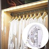 B.K.Licht ruban LED avec détecteur de mouvements, éclairage dimmable pour placard armoire vitrine, longueur 1m, auto-adhésif,