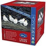 """Konstsmide 6144-203 LED Acrylfigur """"Vögel"""" / 5er- Set / für Außen (IP44) /  24V Außentrafo / 40 kalt weiße Dioden / transparentes Kabel"""