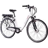 CHRISSON 28 Zoll E-Bike Trekking und City Bike für Damen - E-Lady weiß mit 7 Gang Shimano Nexus Nabenschaltung - Pedelec…
