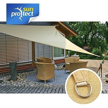 Corasol 160202 Premium Sonnensegel wind- /& wasserdu 2,5 x 2,5 x 2,5 m Dreieck