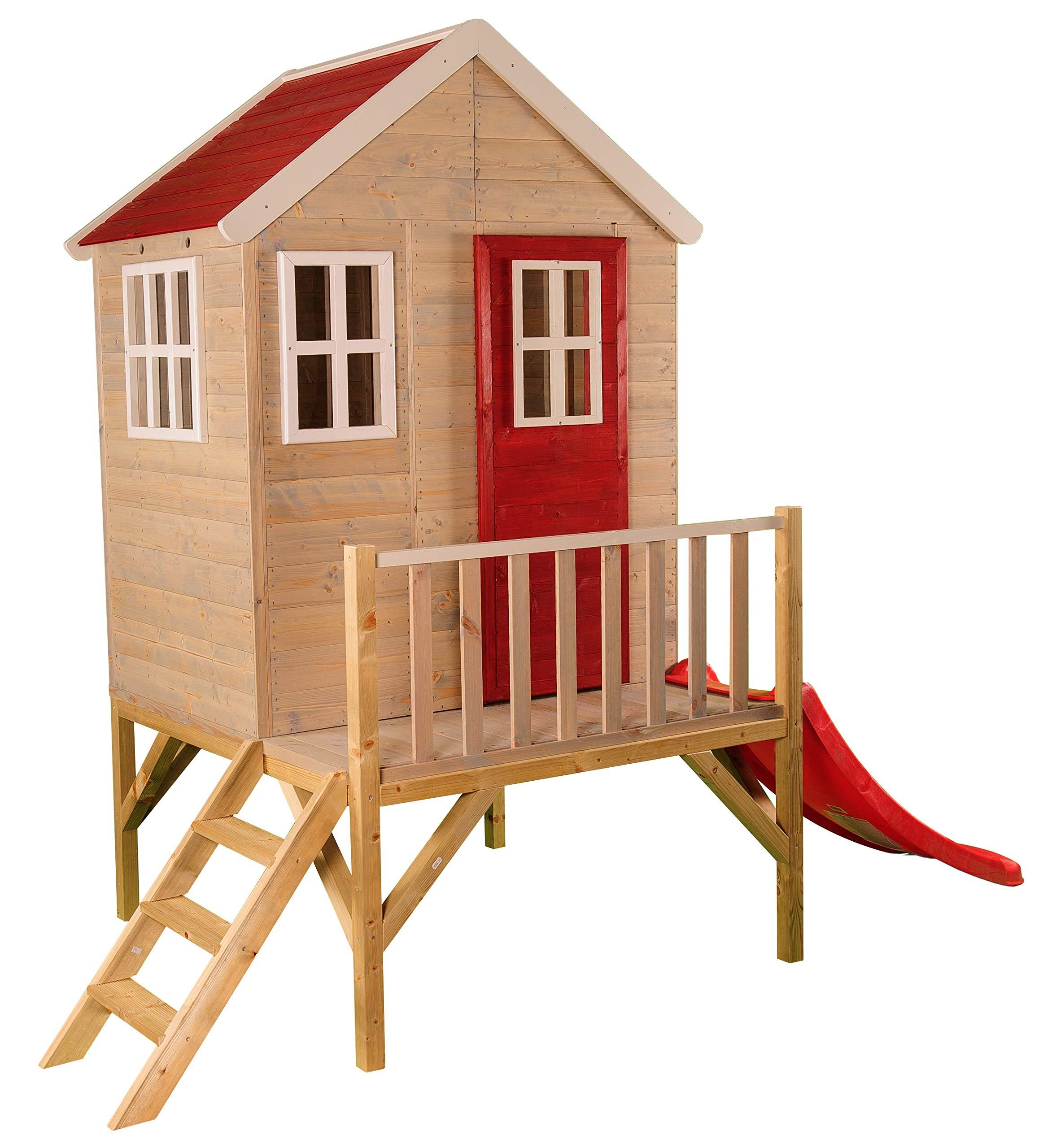 Di legno casa per bambini su piattaforma per esterno for Casa legno bambini