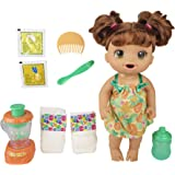 Baby Alive Magical Mixer Baby Doll Tropical Treat with Blender Accessories, Drinks, Wets, Eats, Brown Hair Toy for Kids Ages