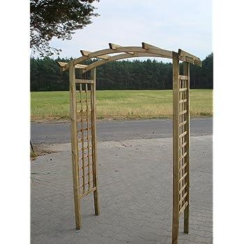 Naturholz Shop Pergola Rundbogen 180x70x210 Cm Pergola Aus Holz Mit
