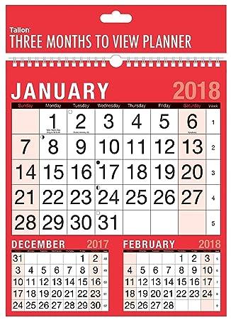 calendar months 2018