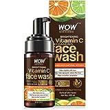 WOW Skin Science Brightening Vitamin C Foaming Face Wash - with Lemon & Orange Essential Oils - For Skin Brightening - No Par