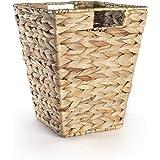Corbeille à papier feuille de bananier naturel | Poubelles en osier pour chambre | Recyclage du papier de bureau | Panier de