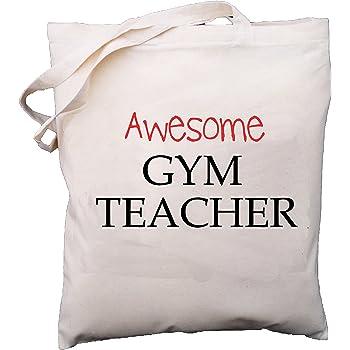 Natural Cotton Shoulder Bag School Gift Awesome Gymnastics Teacher