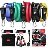 Resistance Bands Weerstandsbanden Fitness Set + Trainings eBook - Expander Tubes - Elastische Work-Out Power Weerstand Banden