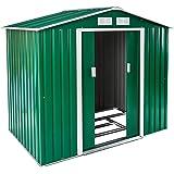 TecTake Abri de Jardin en métal cabane à Outils Rangement | + Fondation | diverses Couleurs au Choix et modèles (Type 1 | Ver