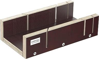 AUPROTEC Schneidlade 250 X 135 X 68 Mm Multiplex Birkenholz Beschichtet  Siebdruck Präzise Gehrungslade Für Beidseitig