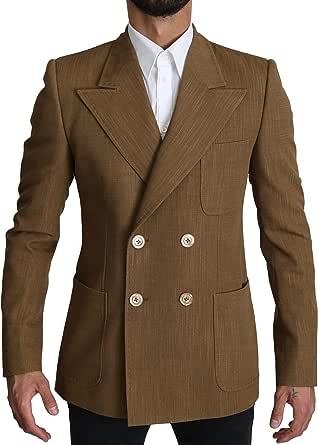 Dolce & Gabbana Wool Brown Formal Slim fit Jacket Blazer
