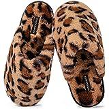 Snug Leaves - Pantofole da donna in memory foam, foderate in pelliccia sintetica