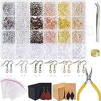TUPARKA 2300PCS Earring Making Kits Jewelry Making Supplies Includes Earring Hooks, Earring Backs, Jump Rings, Earring Cards for Jewelry Making and Earring Repair