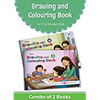 Blossom Drawing and Colouring Practice Books for Kids | 7 to 10 Year | Learn How to Draw Easily with Step by Step Instructions | Pencil Drawing Techniques for Children | Level 3 and 4 - Set of 2 Books