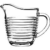 KADAX Jarra de leche de cristal, jarra de leche con asa, jarra de nata, jarra, salsa, jarra pequeña de cristal para leche, na