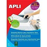 APLI 2530 - Etiquetas blancas imprimibles (210,0 x 297,0), adhesivo permanente 250 hojas