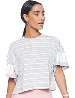 PUMA Damen Rebel Striped Tee T Shirt