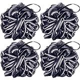 Aquior Bain Douche Éponge, Paquet de 4 brosses à récurer pour le corps Loofah 60g / PCS, Éponge Loofah pour une peau douce et
