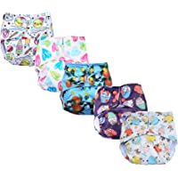 superbottoms 5 Basic Assorted Prints Pocket Diapers (Only Diaper Shells, no Inserts Included, One Size Adjustable Sizes…